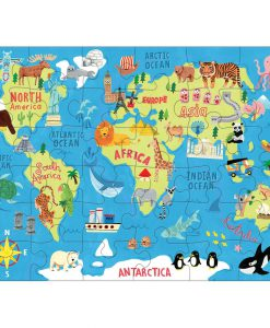 puzzle to go mudpuppy map of the world