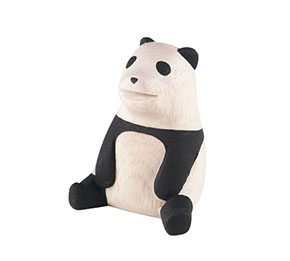 panda polepole wooden animal t-lab