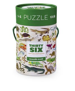crocodile creek reptiles & amphibians thirty six animals puzzle 100 pieces