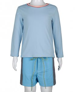 Albert rash guard pacific rainbow pastel boys