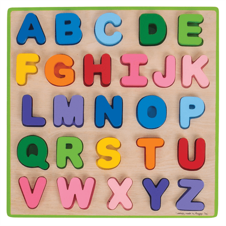 chunky alphabet puzzle toddler learning